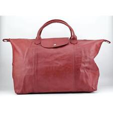 Longchamp Viera Fold Satchel Women Red Satchel Blemish  15826