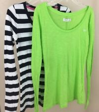 Gilly Hicks Abercrombie Top T Shirt Blouse Long Sleeve Lot of 2 Sz XS