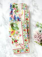 April Cornell Kitchen Napkin Set/4 Cottage Rose Ecru NWT 100% Cotton