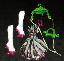 New Monster High Doll Clothes Honey Swamp Outfit Dress Boots Shoes Freak Du Chic