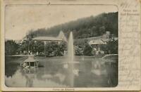 2537: Ansichtskarte Postkarte Bad Herrenalb Partie im Kurpark 1919 Bahnpost