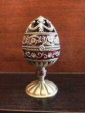 enamel musical egg cardnial
