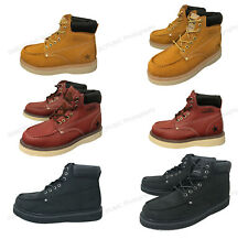 Brand New Mens Moc Toe Boots Leather Water/ Oil Resistant Insulated Roofing Work