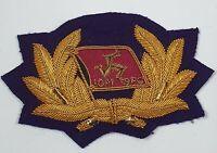 Isle of Man Steam Packet Company Officers bullion Wire cap badge - Irish sea IOM