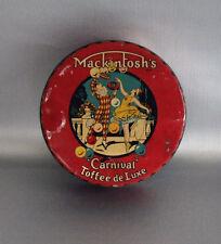 RARE Canada Round Tin Mackintosh's Carnival Toffee de Luxe