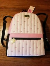 Betsey Johnson Lbsammy Backpack Pink Black Embroidered Hearts