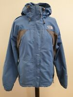 C151A WOMENS THE NORTH FACE BLUE HIKING WALKING HOODED RAINCOAT UK M 10