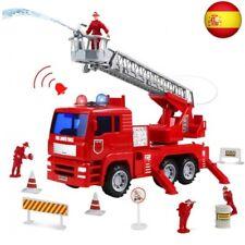 Camion Bomberos Juguetes Coches Vehiculos con Bomba de Agua Escalera Extendible