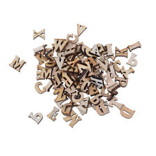 100pcs Letters Wooden Alphabet Embellishments Scrapbooking Cardmaking Craft FT
