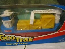 Geo Trax Ocean Cargo Transport Barge Boat crate box NEW harbor part toy water