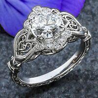 hochzeit schmuck crystal hinreißend größe 6 - 10 versilbert ring aaa, zirkon,