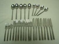 28 PCS H.F. LTD HANFORD FORGE HAF6 STAINLESS FLATWARE