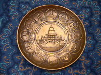 "1933 Chicago Worlds Fair ""A Century of Progress"" souvenir copper dish"