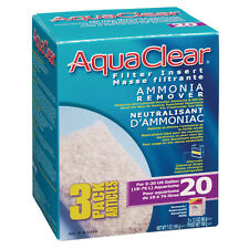 Aqua Clear 20 Ammonia Remover Insert 3 Pack Filter Media A1410 Brand New!!!