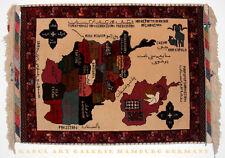 118x85 cm afghan Orientteppich Landkarte oriental rug map of Afghanistan -Hakim