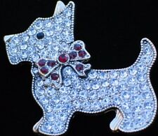 NIB MONET CHRISTMAS SCHNAUZER SCOTTIE SCOTTISH TERRIER DOG PUPPY BROOCH JEWELRY