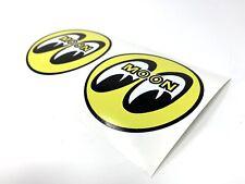 Moon Eyes Retro Stickers X2 Hot Rod Drag Racing NASCAR  Tool Box Garage Sticker