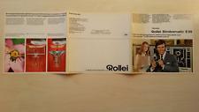 ROLLEIFLEX OPUSCOLO PUBBLICITARIO 1969 - ROLLEI STROBOMATIC E55 - 8/17