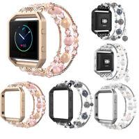Jewelry Bling Agate Beads Strap Watch Wrist Band Bracelet For Fitbit Blaze US