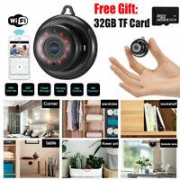 1080P Wireless WiFi HD MINI IP Camera CAM Home Security IR With 32 GB TF Card