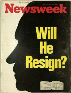 Vintage Newsweek Magazine May 1974 Will He Resign Nixon Linda Brown Segregation