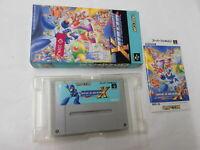 Y2975 Nintendo Super Famicom Rockman X Megaman Japan SFC SNES w/box