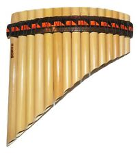 PROFESSIONAL PAN FLUTE CURVED TUNABLE 15 PIPES  -FROM PERU