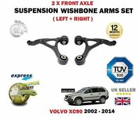 FOR VOLVO XC90 2002-> 2X FRONT LOWER LEFT + RIGHT WISHBONE SUSPENSION ARMS SET