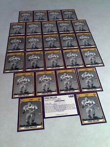 Fred Miller:  Lot of 26 cards / LSU