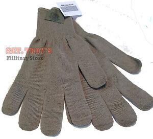 USGI Lightweight Cold Weather Gloves Inserts Gray Medium/Large Brown XL NEW