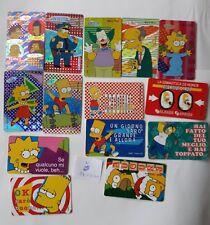 LOTTO 14 CARDS  PLASTIFICATETHE SIMPSONS MATT GROENING FOX ANNO 1999