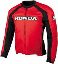 HONDA TEXTILE MOTORCYCLE JACKET WATER RESISTANT REMOVABLE LINER RED LARGE