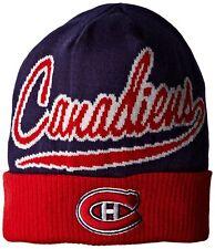 ec5464f31e0 NWT REEBOK MONTREAL CANADIENS CUFFED NHL KNIT BEANIE HAT CAP OSFA