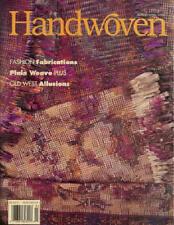 Handwoven magazine mar/apr 1996: silk; bronson lace