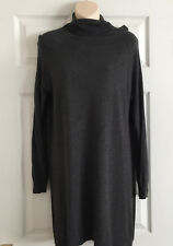 WOMEN KNITTED POLONECK JUMPER DRESS SIZE 14 -16  UK MARKS & SPENCER