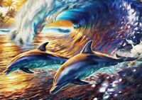 5D Diamond Painting DIY Part Drill Dolphin Embroidery Cross Stitch Kit Art Decor