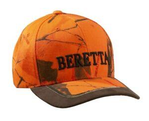 Beretta Orange Camo Baseball Cap Hat Hunting Shooting