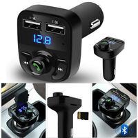 Car Kit FM Transmitter Dual USB Charger Wireless Bluetooth Handsfree MP3 Player