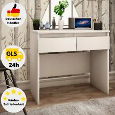 Schreibtisch Weiß Computertisch Bürotisch Büromöbel Arbeitstisch 2 Schubladen