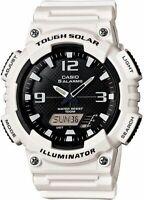 PREOWNED Casio AQS810-7C  Solar Sport Men's Analog-Digital White Wrist Watch