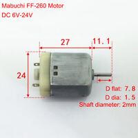 Mabuchi FF-260 Motor D Shaft Flat DC 6V-24V 12V Mini Electric Carbon Brush Motor