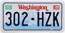 Plaque d'immatriculation américaine WASHINGTON
