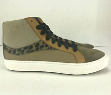 Coach High Top Fashion Shoes Tan Brown Tiger Suede Mens G1420 Size 9.5