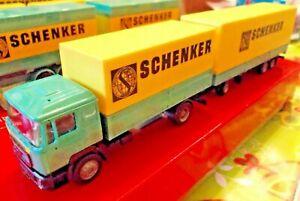 """MAN F 90 VolumenPlanenHgzg Transmaximal """" SCHENKER """" # 1:87# Herpa"""