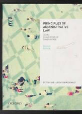 Principles of Administrative Law: Legal Regulation of Governance SECOND EDITION