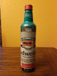 San Antonio Spurs *limited edition* Budweiser aluminum bottle throwback logo