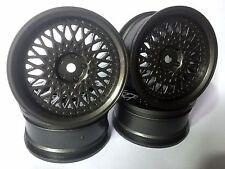 Rc Car 1/10 Drift FM Spoke Rim Wheel 3mm Offset fit Tamiya HPI 12mm hex GM