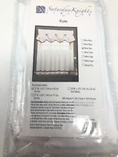 """Saturday Night Limited Kate 57""""W x 24""""L Pair of Window Tiers in White / Blue"""