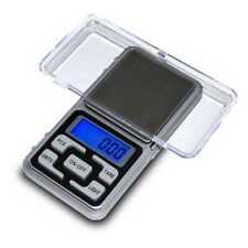 Mini Bascula Digital Precision Balanza 0,01g A 200g Display LCD Tara Con Pilas
