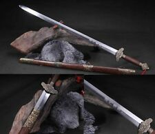 """100% Hand Forge Chinese Sword """"Peony Jian """"(劍) Carbon Steel Alloy Fitting # 7103"""